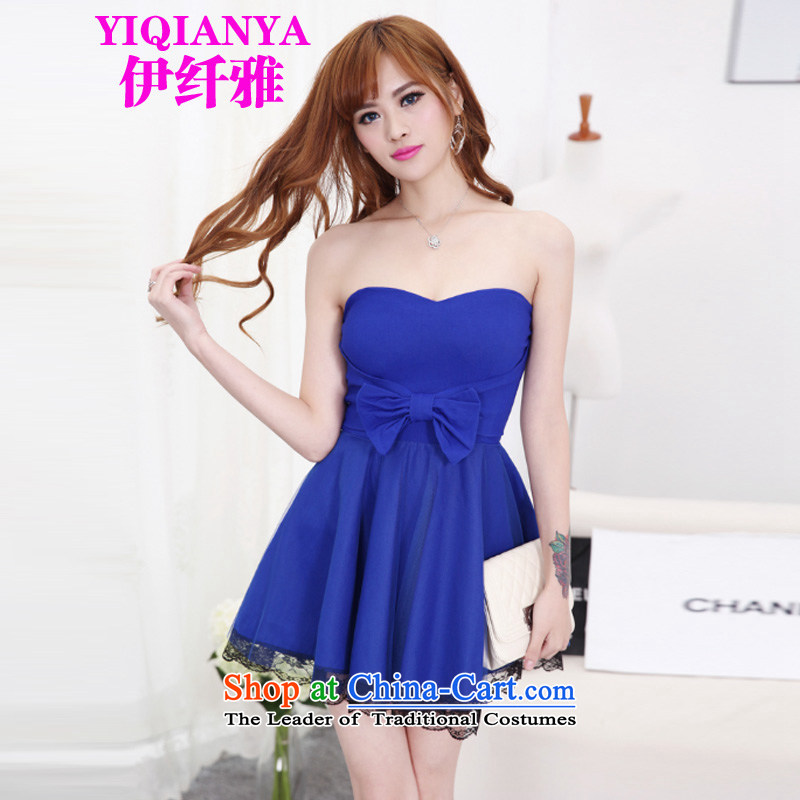 The former Yugoslavia, the?new 2015 Nga female stylish Bow Ties With chest bon bon Princess Sau San bridesmaid dress 9817b skirt blue are code