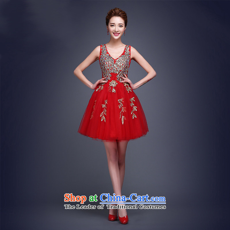 Shared Keun guijin bridesmaid dress new 2015 wedding dresses short) bridesmaid service banquet evening dresses annual small dress?code red female XXL from Suzhou Shipment