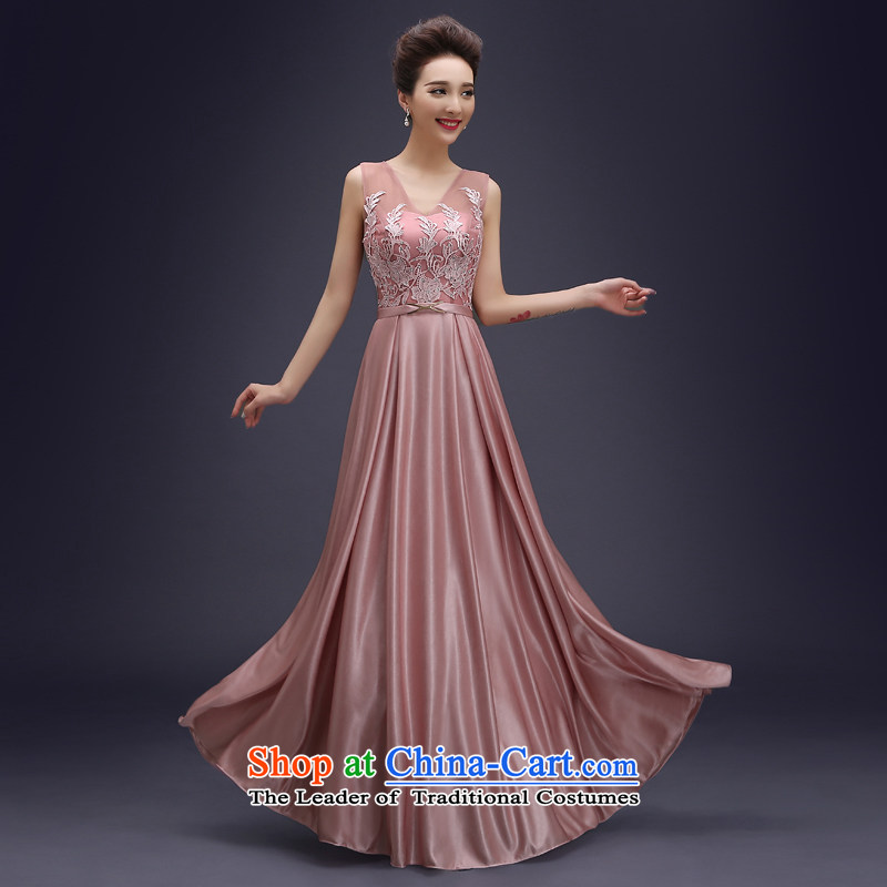 Wedding dress evening drink service?2015 new Korean fashion Sau San dress marriages long drink service banquet moderator evening dress the usual zongzi autumn colors?L