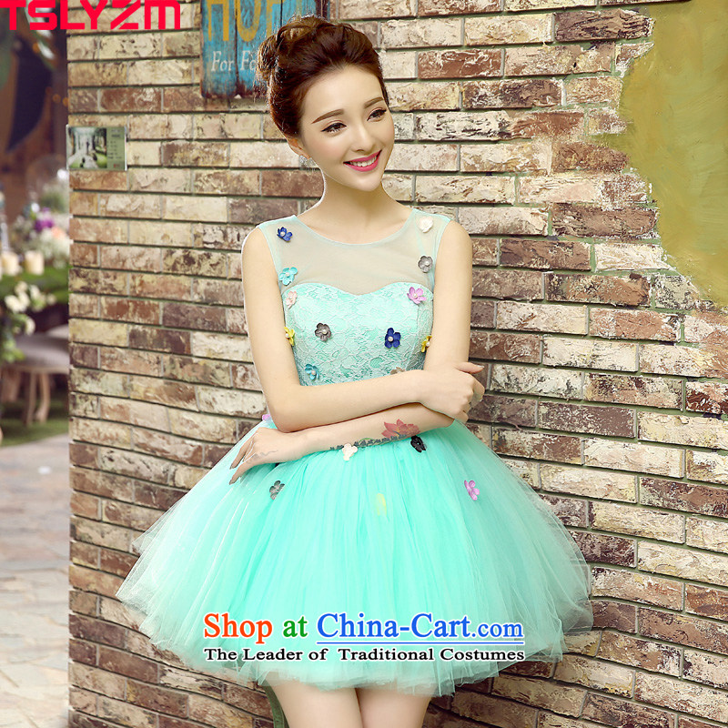 Personal Photo Album floor tslyzm theme clothing wedding photography dress will singer moderator show services bon bon skirt short, 2015 NEW SKY BLUE?XXL