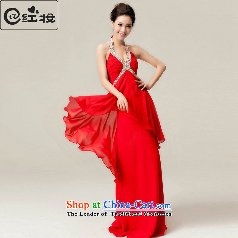 Red pregnant women serving spring brides bows wedding dress long Hung Shing banquet evening dresses 2015 NEW�L11007�RED�S