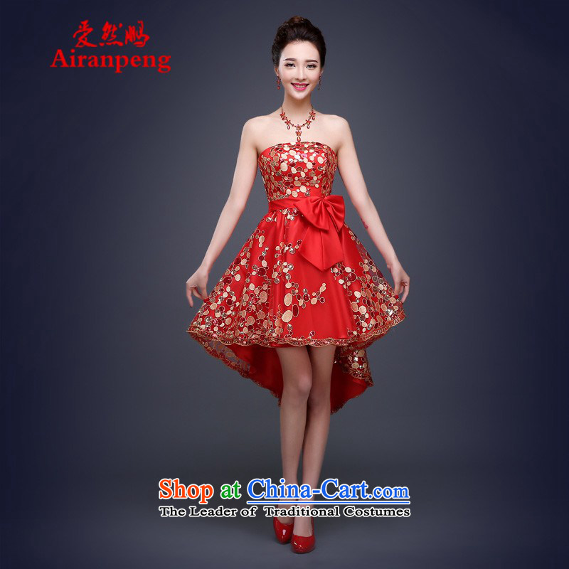 Love So Peng bridal dresses bows services spring and summer, wipe the chest lace bright pink is hosting the daily regular meetings with evening dresses pregnant women�need to be done XXXL red does not support replacement