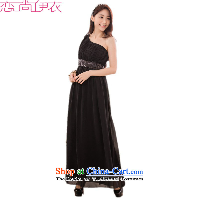 C.o.d. xl stylish long skirt dress new aristocratic goddesses temperament video thin ice woven dresses thick mm Beveled Shoulder hosted a dress code are approximately 90-120 black catties