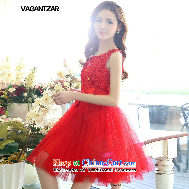 Small wedding dresses VAGANTZAR bridesmaid dress bridal dresses bows services wedding dresses 1521 Red S