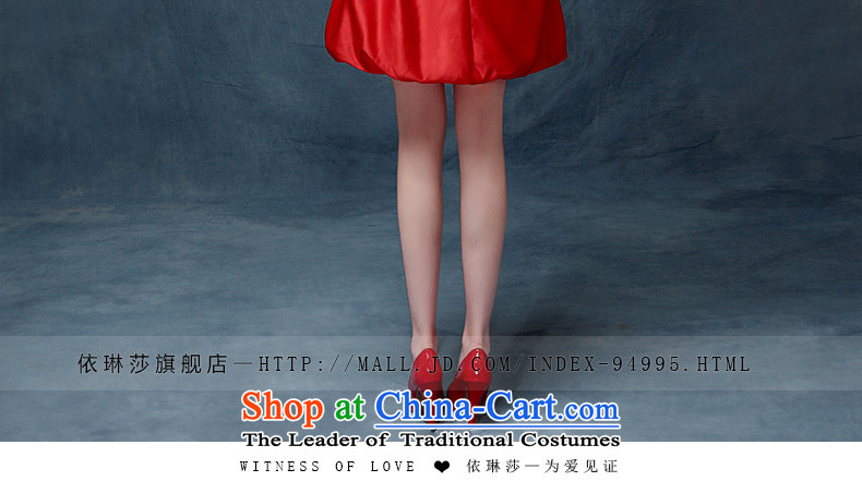 Evening Dress Short, 2015 New wedding dresses red bows Service Bridal Fashion Long Short of betrothal festival bridesmaid services red L picture, prices, brand platters! The elections are supplied in the national character of distribution, so action, buy now enjoy more preferential! As soon as possible.