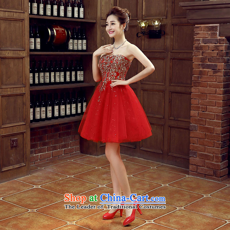 The bride dress marriage services new marriage bows stylish small red dress female Dress Short, banquet�L