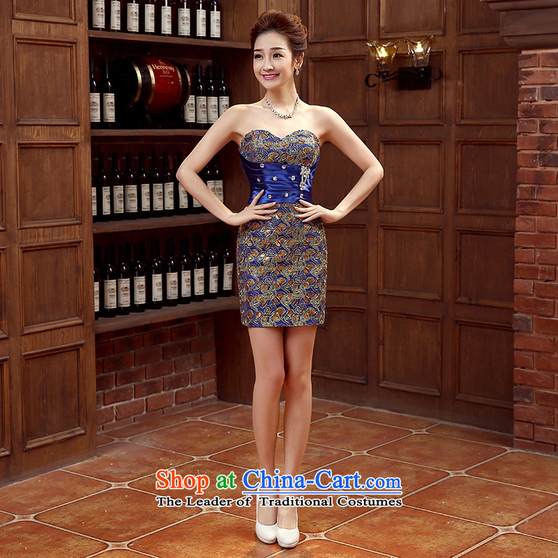 The bride dress marriage services new marriage bows stylish small red dress female Dress Short, banquet spring and summer�XL