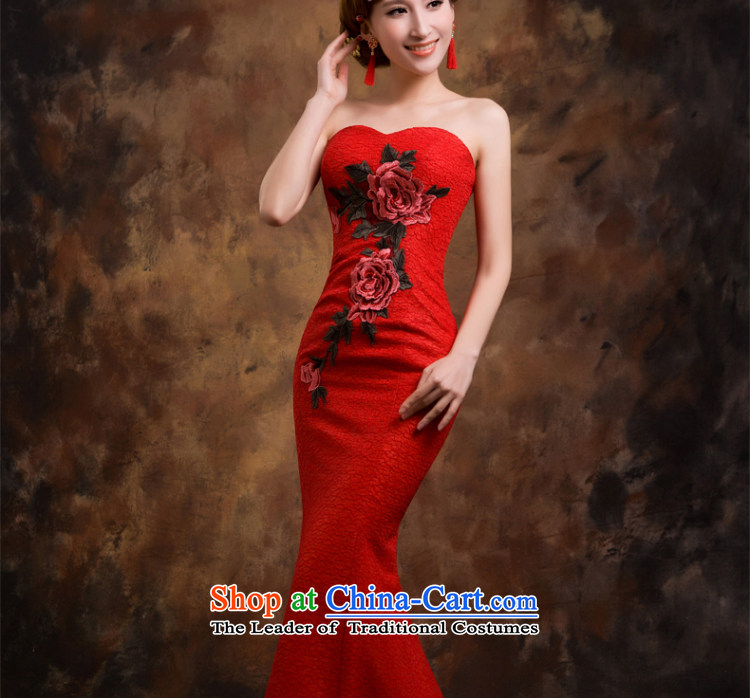 Red wedding dresses Bridal Services dress bows new 2015 crowsfoot wedding betrothal wedding dress female XL Photo, prices, brand platters! The elections are supplied in the national character of distribution, so action, buy now enjoy more preferential! As soon as possible.