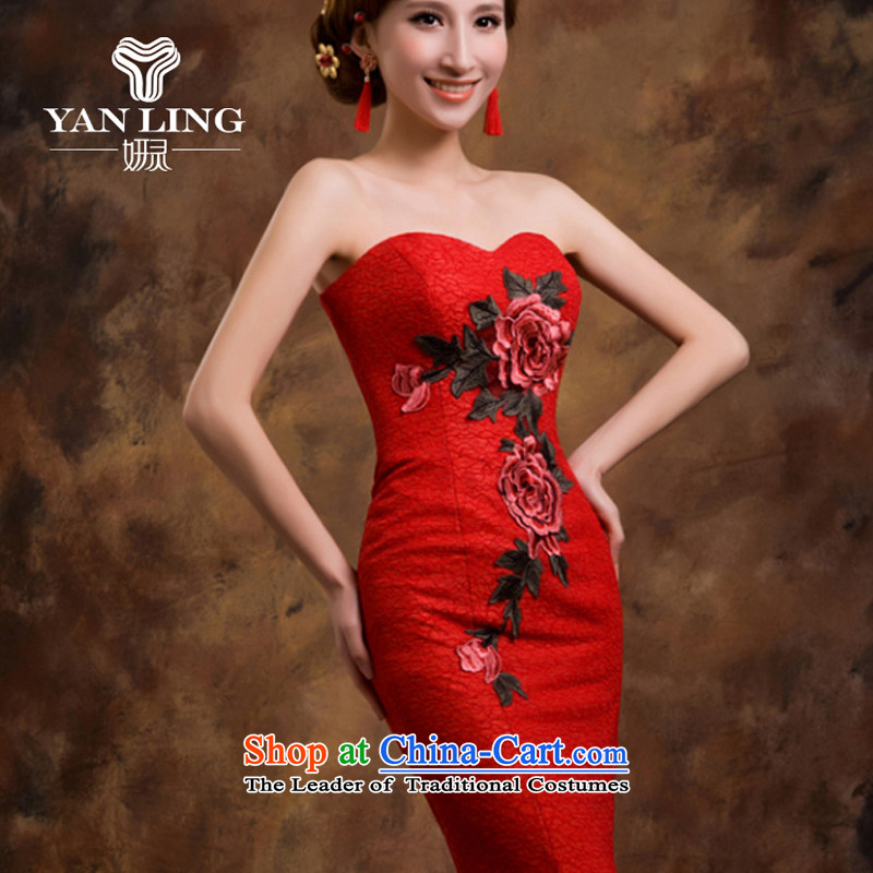 Red wedding dresses Bridal Services dress bows new 2015 crowsfoot wedding betrothal wedding dress female XL, Charlene Choi spirit has been pressed shopping on the Internet