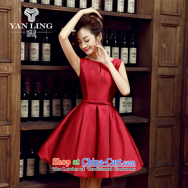 The bride dress marriage services new marriage bows are small red dress female Dress Short, banquet spring and summer?XL