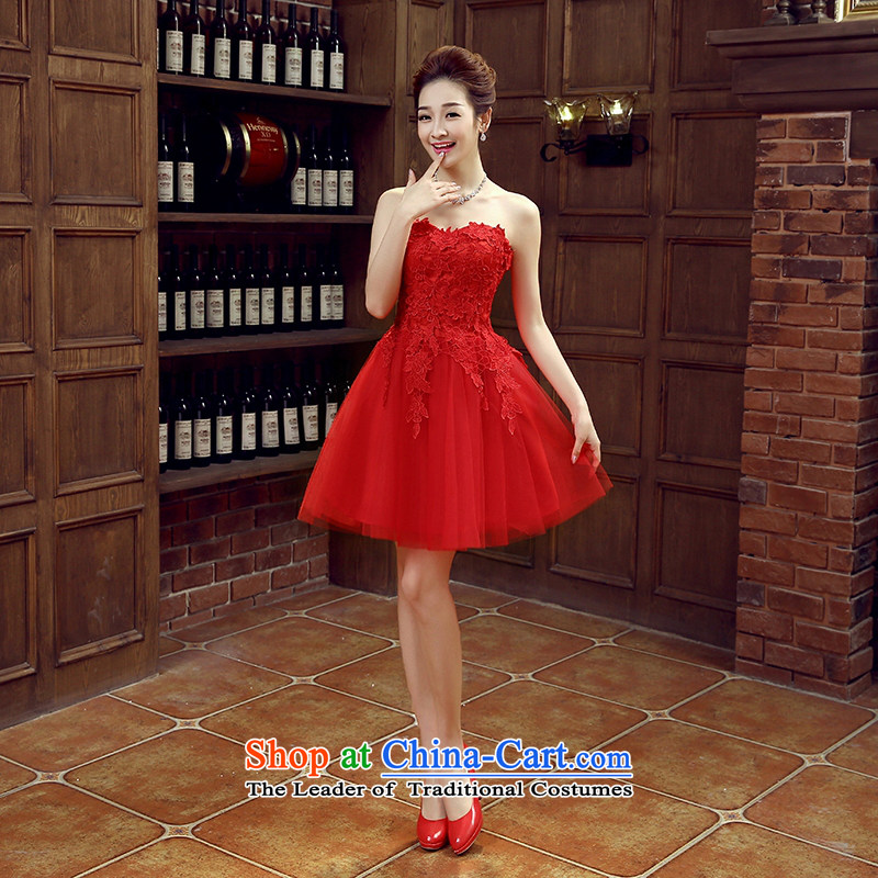 The bride dress bows services new stylish wedding dresses red small female Dress Short, banquet spring and summer?s