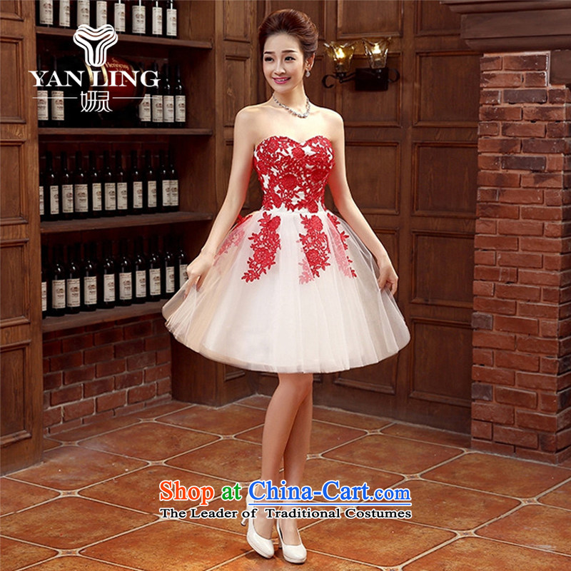 Marriages bows services new stylish wedding dresses red small female Dress Short, banquet spring and summer?s