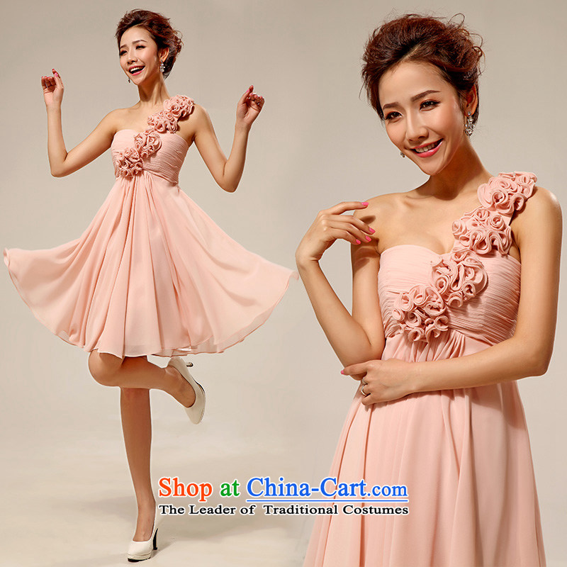 Wedding dresses new 2015 Korean shoulder stylish marriages small dress short skirt as?LF136 s