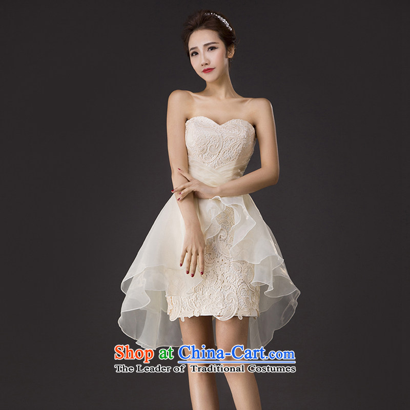 Charlene Choi Spirit and chest service new spring bows short dress lace Soft Net bon bon skirt marriages bridesmaid services?L