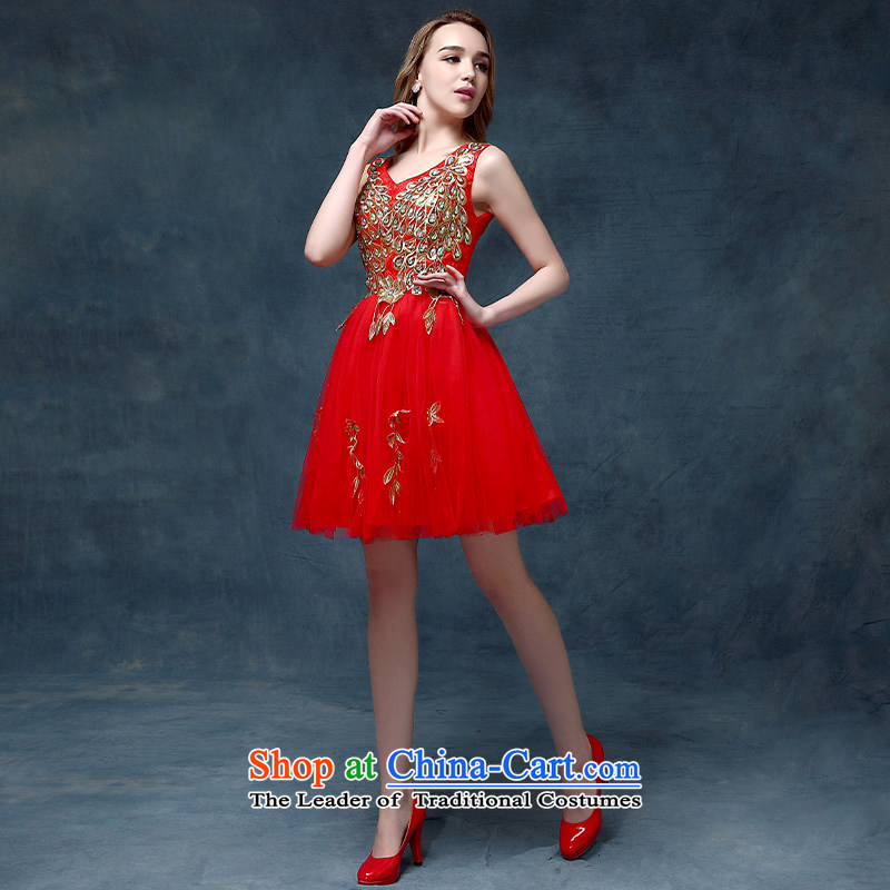 Evening dress New Korea 2015, spring and summer bows marriages stylish moderator dress dresses female RED?M