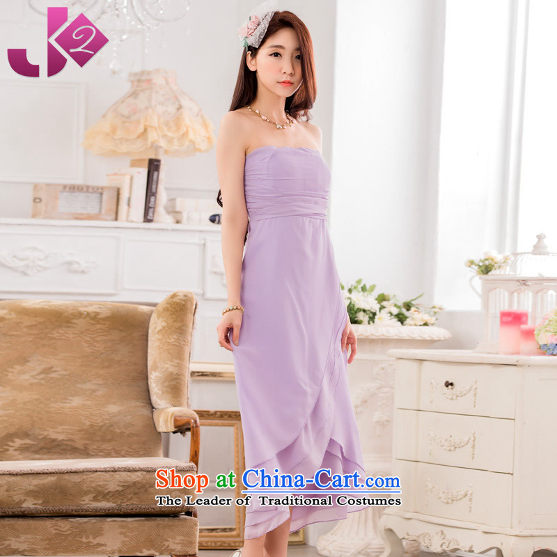 ?The Korean version of the elegant Jk2.yy foutune omelet before chiffon long skirt xl dress up the skirt to chest with a purple stealth code number involved the height and the weight ratio as the advisory service