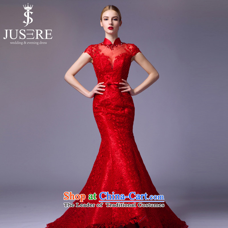 There is a?new 2015 Huaxi aristocratic dress marriages bows service banquet dinner dress will preside over a crowsfoot Red?4 code
