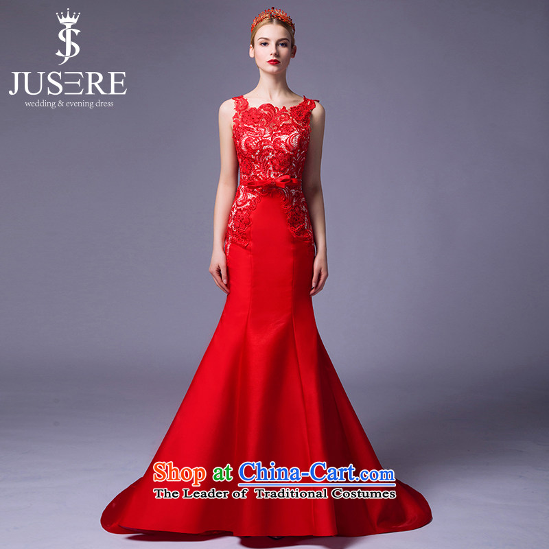 There is a day of the new millennium Hung Luen?2015 new wedding dresses aristocratic dress marriages bows services shoulder Red?6