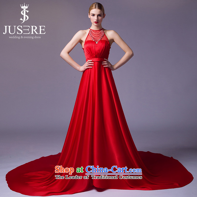 There is a dark-aristocratic dress banquet evening dresses moderator hang will also tail Top Loin of Chinese Red?10
