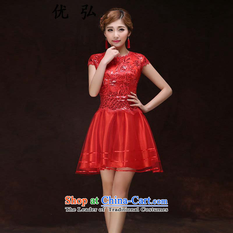 Optimize the? new 2015 Hong-short film on the fashionable dresses lace Sau San bon bon skirt dress bows ycf002 services XL
