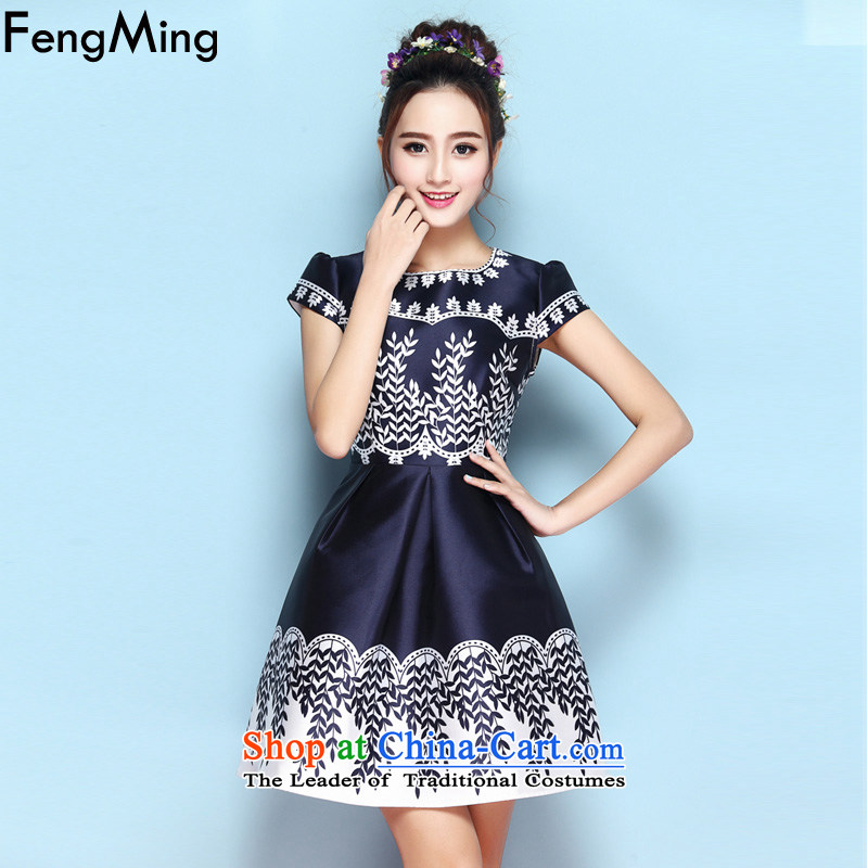 Hsbc Holdings plc Ming aristocratic dress skirt D G Soo-high-end stamp Sau San dresses women 2015 Autumn New Suit M