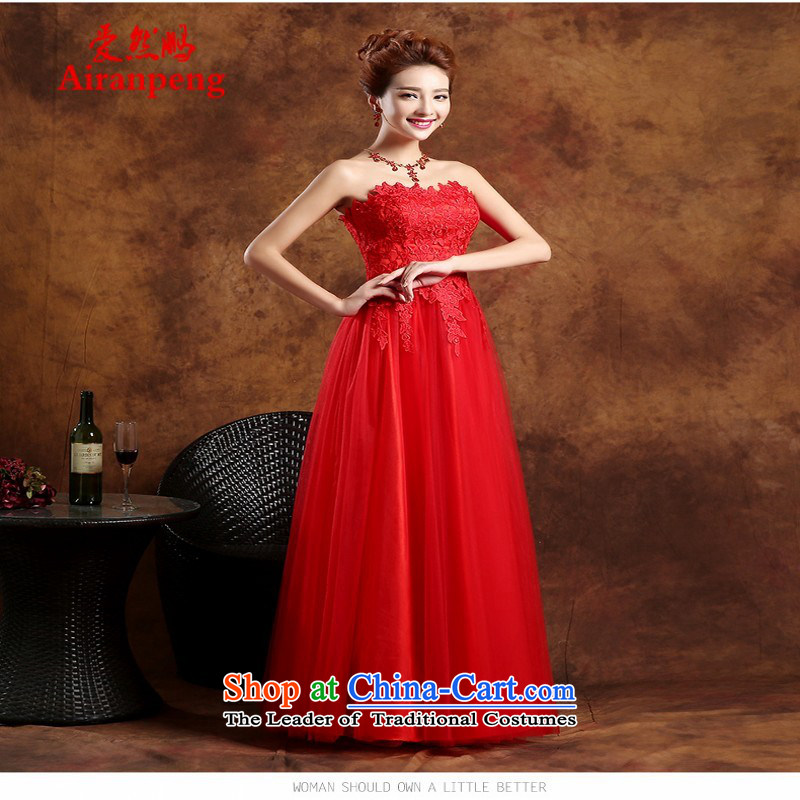 Love So Peng bows Service Bridal Fashion New Spring 2015) wedding dresses red short of marriage banquet evening dresses long summer long?XXL need to do not support returning