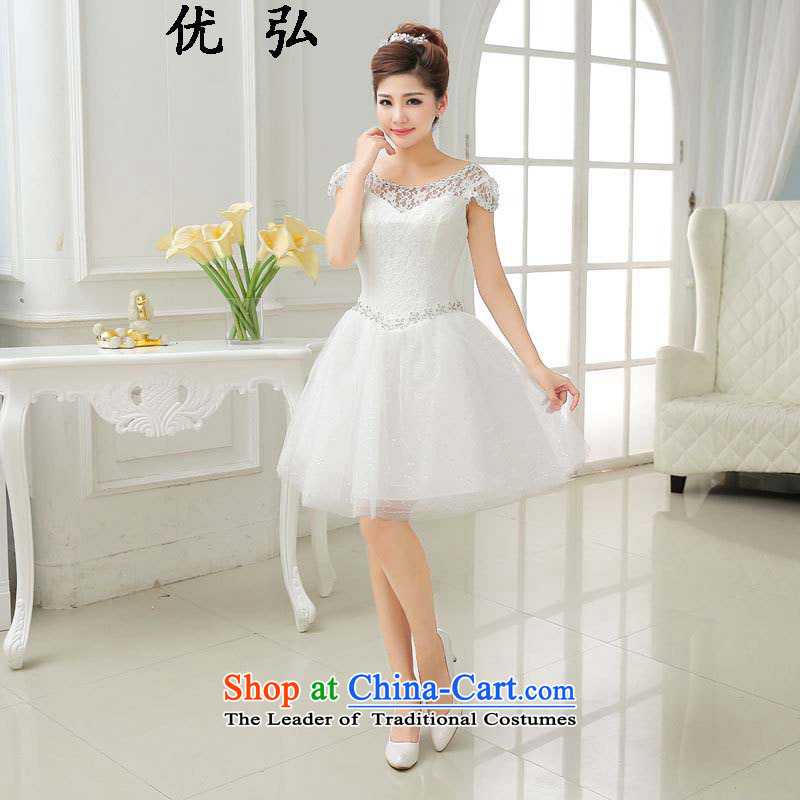 Optimize video 2015 new stylish lace bows services bridesmaid small dress ycf014 S