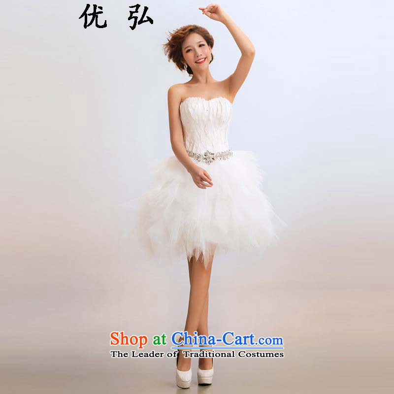 Optimize video 2015 new stylish short of marriages wedding dresses ycf016 M