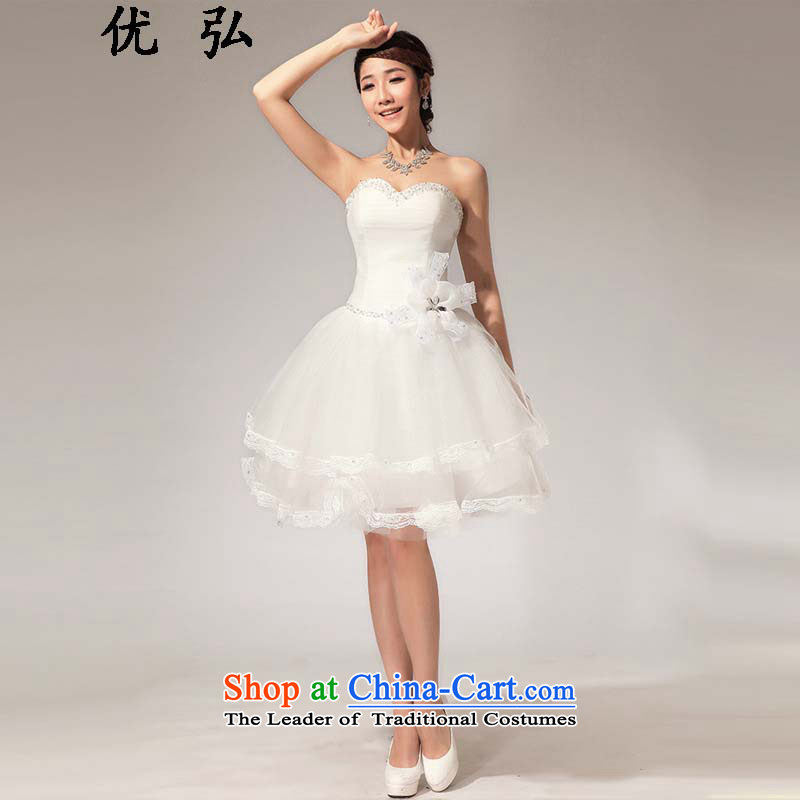 Optimize the New Korea 2015 Hong-version with chest lace flowers bon bon skirt small dress ycf018 XXL