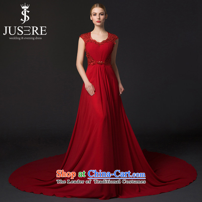 There is located the souls of flowers and wedding dresses 2015 new aristocratic dress bows to shoulder the smearing Red�2 code