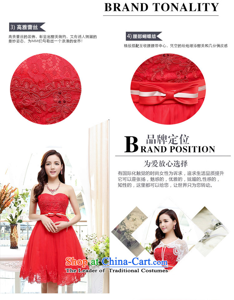 Cover Story 2015 new anointed chest strap OSCE root yarn lace small dress brides marriage