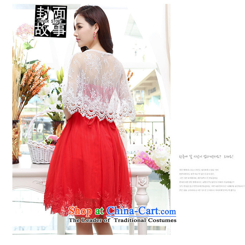 Cover Story 2015 new anointed chest strap OSCE root yarn lace small dress brides marriage   replacing bridesmaid skirt dresses shawl 120 XL, Cover Story (COVER) SAYS shopping on the Internet has been pressed.