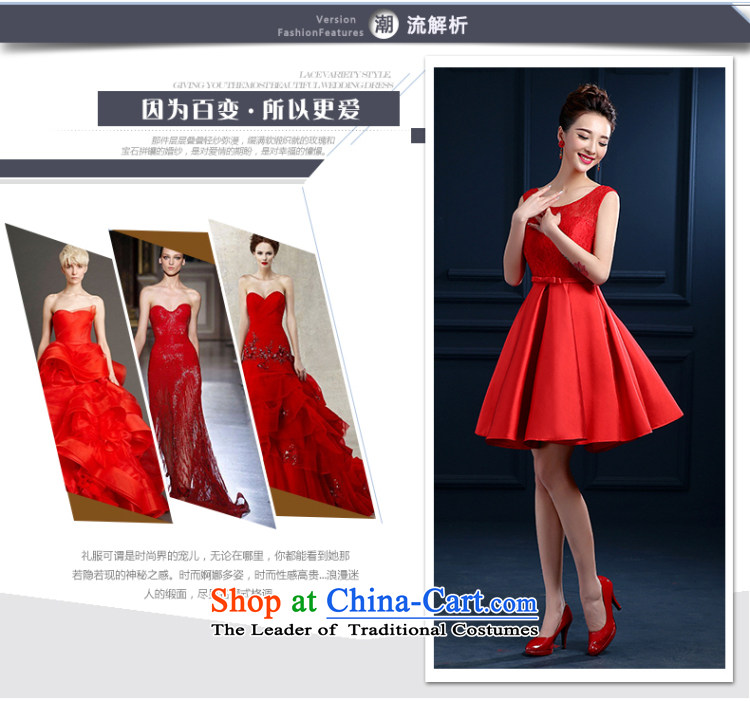 Beverly Ting bride bows services new spring and summer 2015 wedding dresses red shoulders short, lace banquet evening dresses skirts married female depilation chest bridesmaid fluoroscopy services red L picture, prices, brand platters! The elections are supplied in the national character of distribution, so action, buy now enjoy more preferential! As soon as possible.