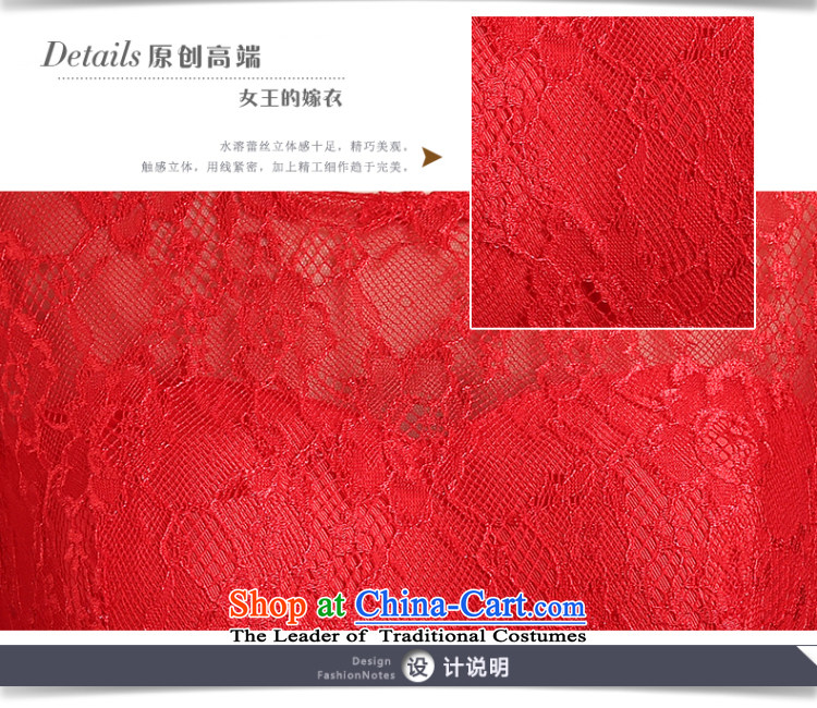 Beverly Ting bride bows services new spring and summer 2015 wedding dresses red shoulders short, lace banquet evening dresses skirts married female depilation chest bridesmaid fluoroscopy services red聽L picture, prices, brand platters! The elections are supplied in the national character of distribution, so action, buy now enjoy more preferential! As soon as possible.