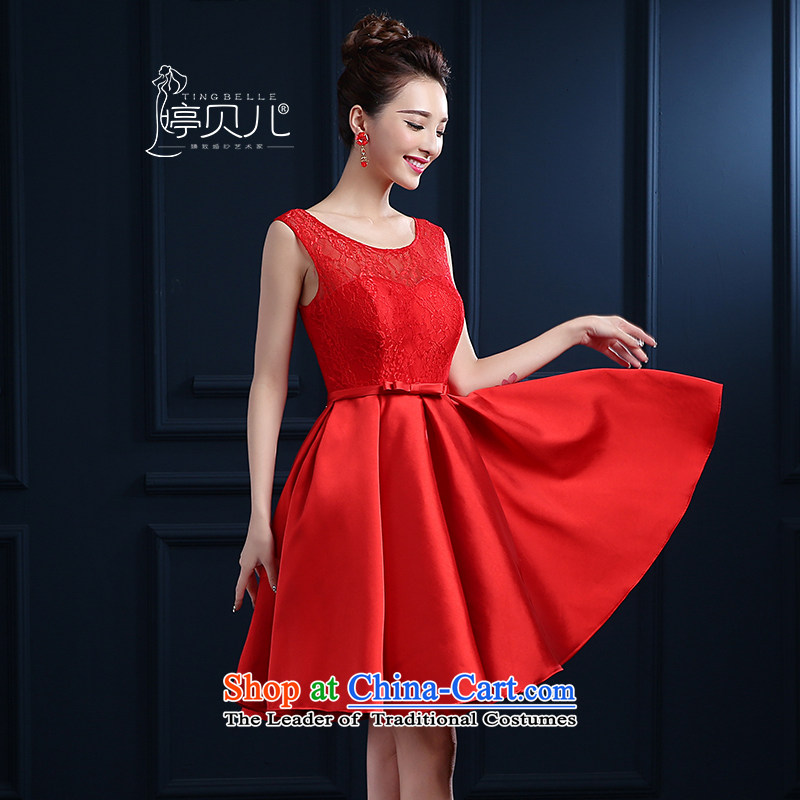 Beverly Ting bride bows services new spring and summer 2015 wedding dresses red shoulders short, lace banquet evening dresses skirts married female depilation chest bridesmaid fluoroscopy services red聽, L, Beverly (tingbeier ting) , , , shopping on the Internet