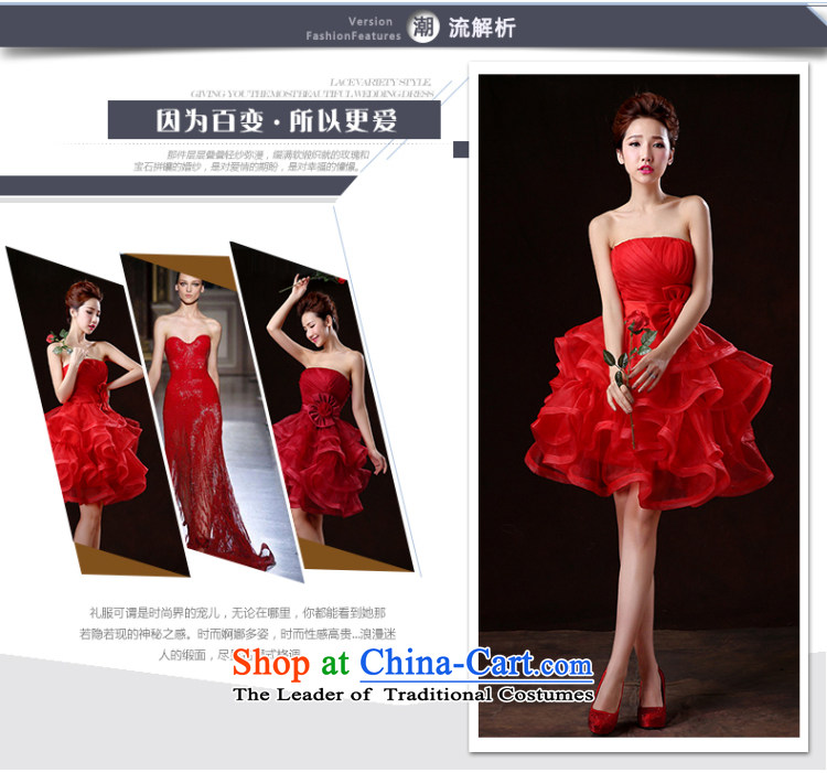 Beverly Ting 2015 New Service Bridal wedding dresses bows spring and summer short of red dress wiping the chest banquet bon bon skirt the betrothal small red dress S picture, prices, brand platters! The elections are supplied in the national character of distribution, so action, buy now enjoy more preferential! As soon as possible.