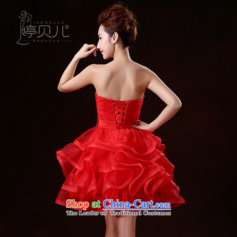 Beverly Ting 2015 New Service Bridal wedding dresses bows spring and summer short of red dress wiping the chest banquet bon bon skirt the betrothal small red dress , Beverly (tingbeier ting) , , , shopping on the Internet