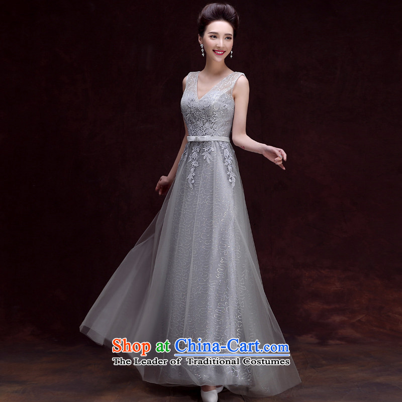 The privilege of serving-leung 2015 new bride bows to the spring and summer load long bridesmaid services sister skirt dress female long banquet,�XL