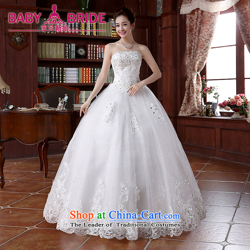 2015 Spring/Summer new lace on-chip integrated graphics alignment with thin to Sau San bon bon skirts and chest wedding dresses white S