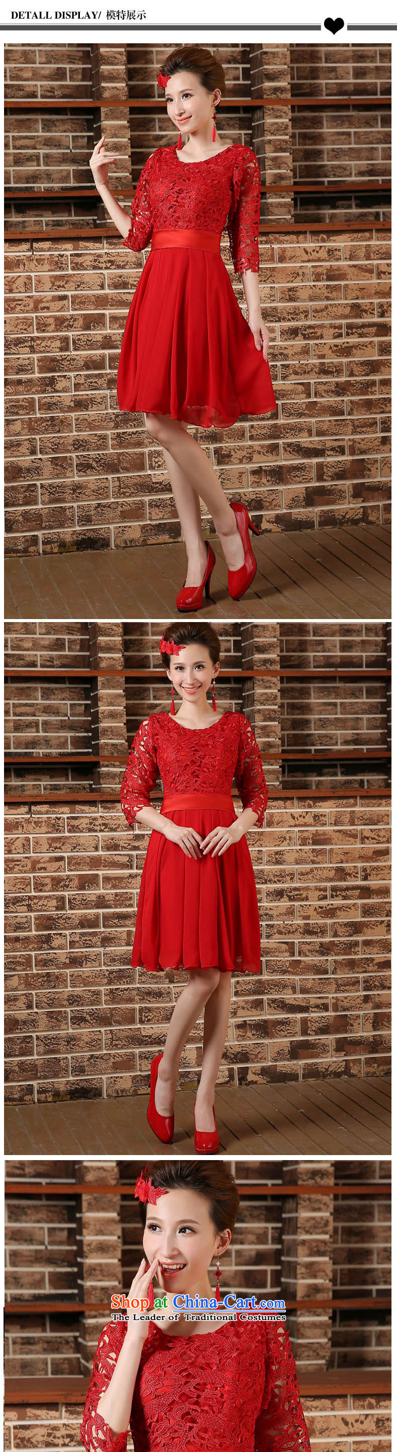 Pregnant women serving high-lumbar spring bows new marriages cheongsam dress 2015 large short of Sau San REDREDL picture, prices, brand platters! The elections are supplied in the national character of distribution, so action, buy now enjoy more preferential! As soon as possible.