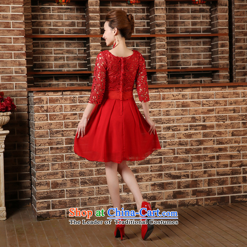 Pregnant women serving high-lumbar spring bows new marriages cheongsam dress 2015 large short of Sau San REDREDL, darling Bride (BABY BPIDEB) , , , shopping on the Internet