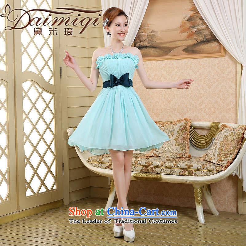 2015 new bridesmaid mission bridesmaid service in a small dress Sister Mary Magdalene chest annual skirt bridesmaid skirt bridesmaid dress skyblue S