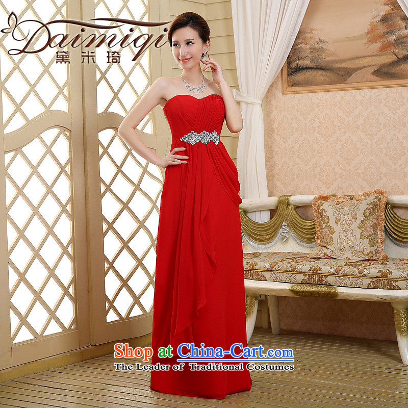 2015 new red long marriages bows dress thin dress Sau San graphics and pregnant women) Red?S chest