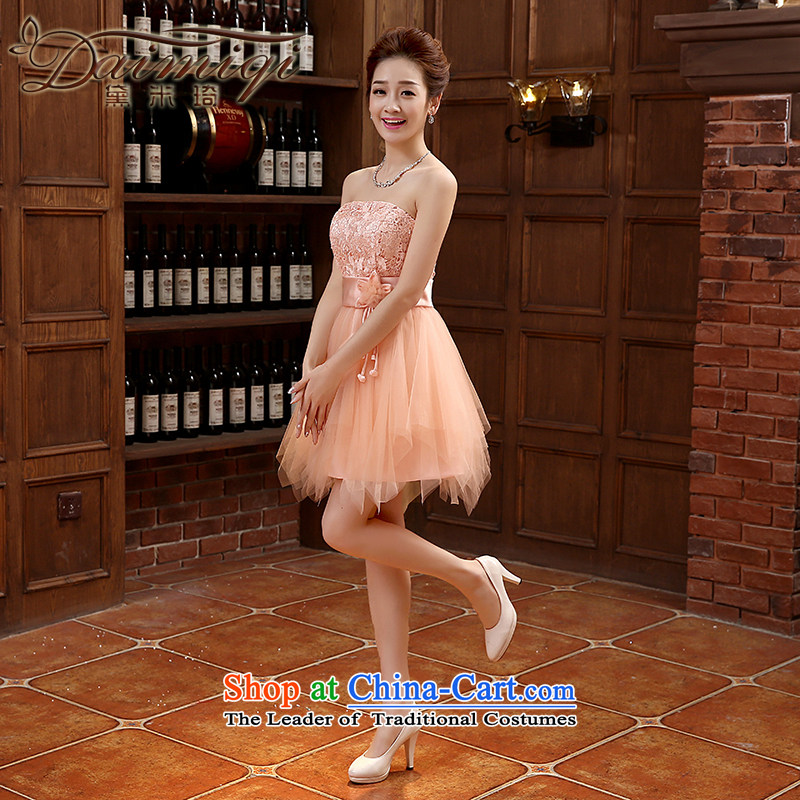 Spring 2015 new dresses bows service, Korean and chest straps Sau San Banquet Hosted Services Orange?S