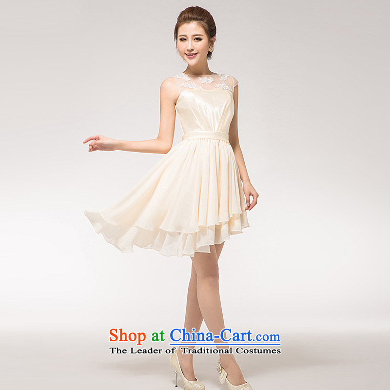 The Korean version of the new 2015 small short skirt marriages yarn dinner will lace bows bridesmaid Dress Short, Red M HO full Chamber , , , shopping on the Internet