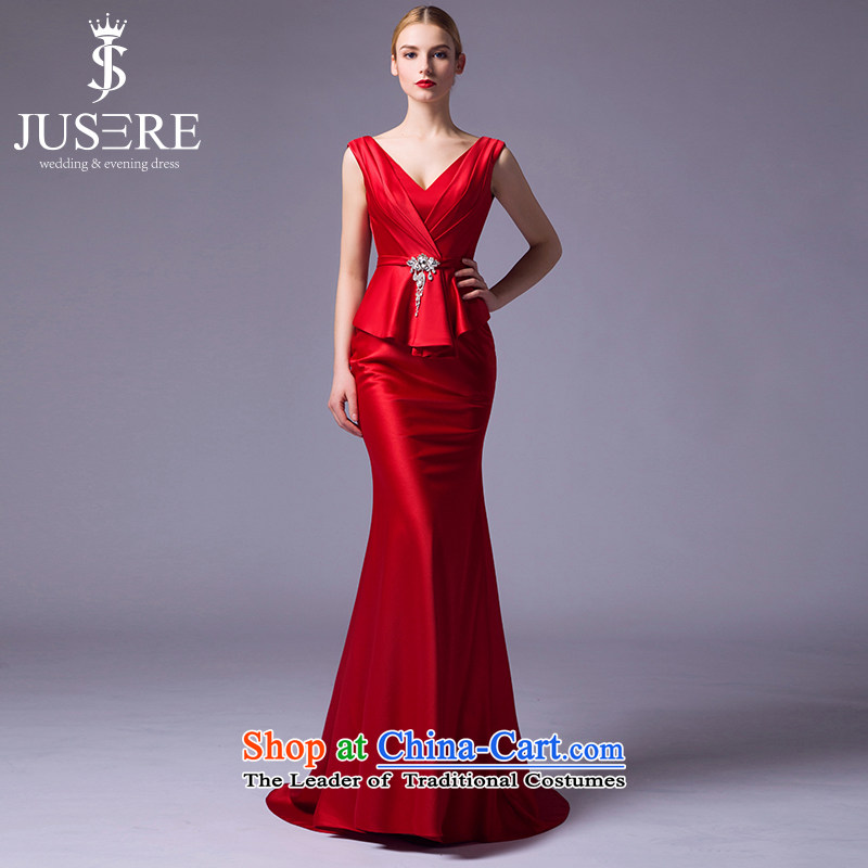 There is a red candle 2015 new wedding dresses to align the shoulder crowsfoot marriages bows Service Code Red 4