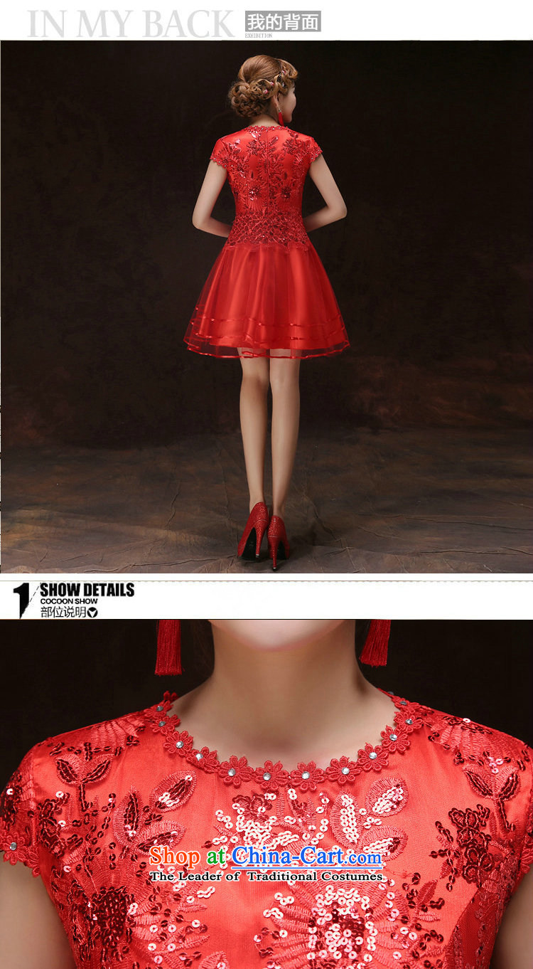 There is also optimized 8D short-sleeved bows services bon bon skirt marriages bows services bridesmaid small annual dinner dress skirt dresses xs5211 red XL Photo, prices, brand platters! The elections are supplied in the national character of distribution, so action, buy now enjoy more preferential! As soon as possible.