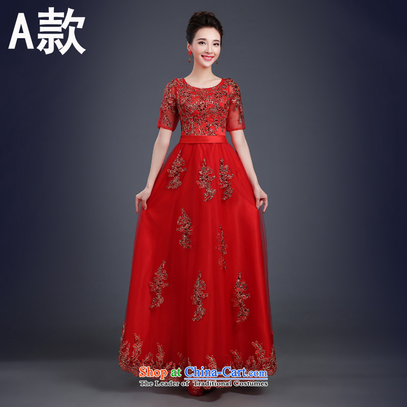 However Service Bridal Fashion?2015 new summer red, wipe the chest length of marriage dual rotator cuff marriage bows evening dresses pleasant bride?A?XXL