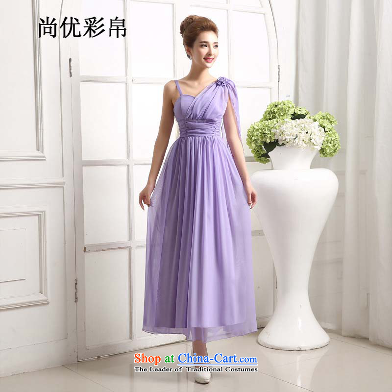 There is also optimized 8D bridesmaid Dress Short Lifting Strap, Small dress skirt bride wedding dinner drink served long skirt bridesmaid mz1210 purple are code