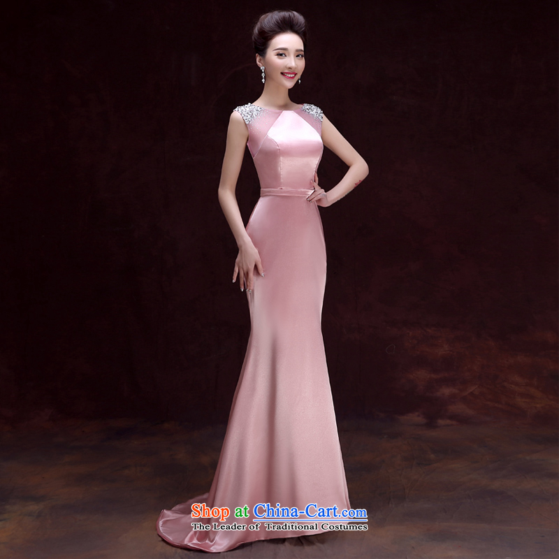 The privilege of serving-leung 2015 new bridesmaid services sister skirt marriages bows to dress Female dress banquet long skirt?2XL